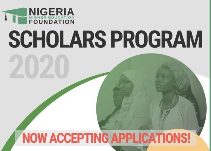Nigeria Higher Education Foundation (NHEF) Scholars Program 2020 for young Nigerians