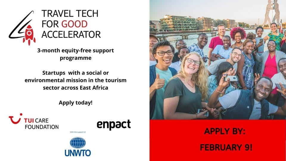Travel Tech for Good Accelerator East Africa Programme 2020 for young Entrepreneurs ( 3-month equity-free support)