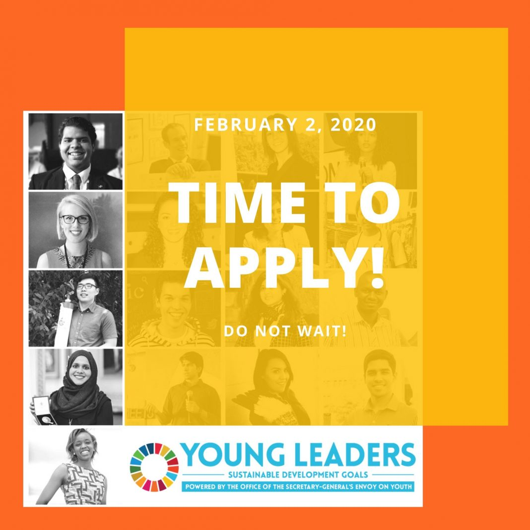United Nations Sustainable Development Goals (SDG) Young Leaders Initiative 2020 for young change-makers