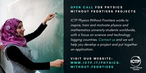 ICTP's Physics Without Frontiers (PWF) Programme 2020 for young Scientist