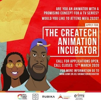 The Africa Digital Media Foundation (ADMF) 2020 CreaTech Animation Incubator for young Animators