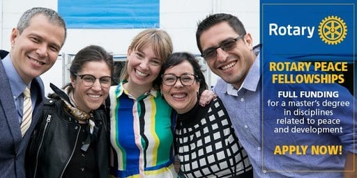 Rotary Peace Fellowship Program 2020/2021 for young Professionals (Fully Funded)
