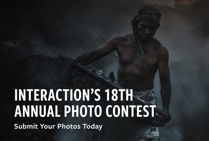 InterAction's Photography Contest 2020 for Humanitarian and Development Work ($1,000 USD prize)