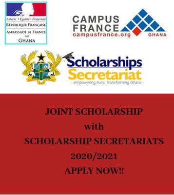French Embassy Master's Degree & PhD Scholarship Programme 2020/2021 for Ghanaians to study in France (Fully Funded)