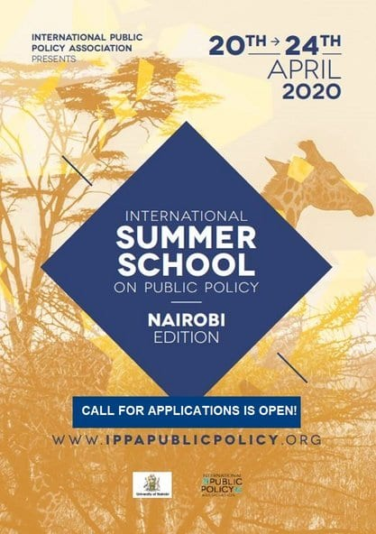 2020 IPPA Summer school on Public Policy for early career Researchers & PhD Candidates – Nairobi,Kenya.