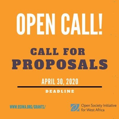 Open Society Initiative for West Africa (OSIWA) Grants 2020 Call for Proposals