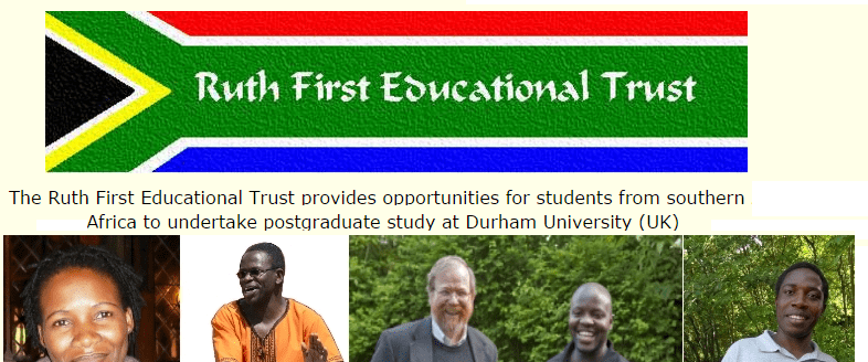Ruth First Educational Trust Scholarships 2020/2021 for Southern Africans to study in the United Kingdom (Fully Funded)