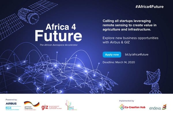Airbus Bizlab Africa4Future Aerospace Accelerator Program 2020 for African Startups (Fully Funded)