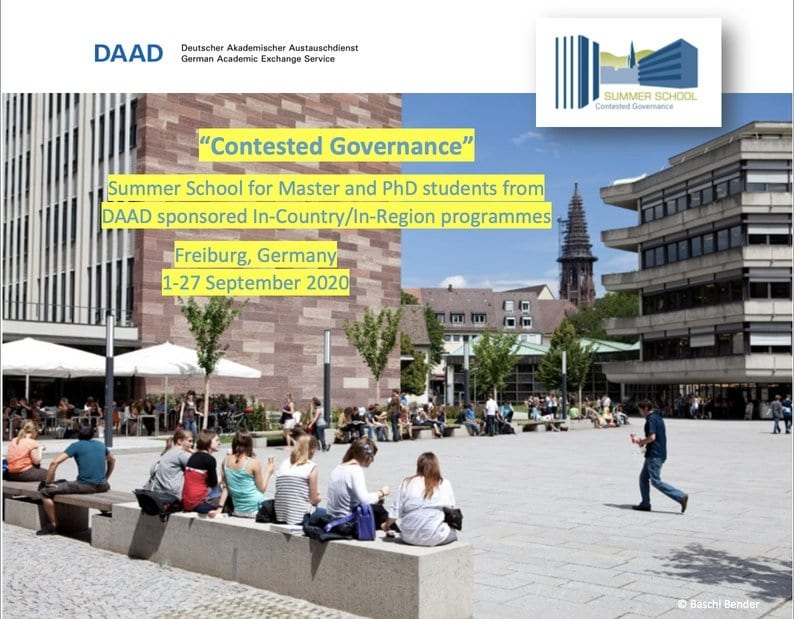 DAAD/ABI Freiburg Contested Governance Summer School 2020 for Graduate Students from Developing Countries (Fully Funded to Freiburg,Germany)