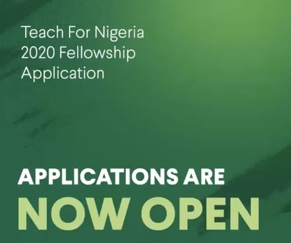 Teach for Nigeria Fellowship Program 2020 for Young Nigerian Professionals (paid fellowship)