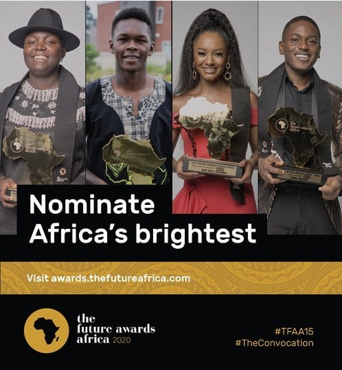 The Future Awards Africa 2020 for young African changemakers.