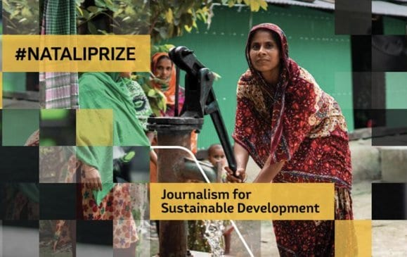 European Commission's 2020 Lorenzo Natali Media Prize for Outstanding Reporting on  sustainable development issues.  (€10,000 Prize)
