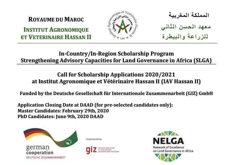 DAAD 2020 In-Country/In-Region Scholarship Program Strengthening Advisory Capacities for Land Governance in Africa (SLGA) (Fully Funded)