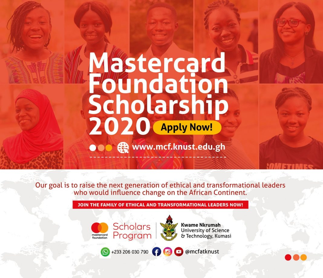 Kwame Nkrumah University of Science and Technology (KNUST) MasterCard Foundation Scholars Program 2020/2021 for young Africans (Fully Funded)