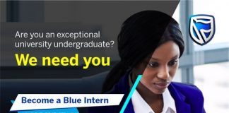 Stanbic IBTC Bank Blue Internship Program 2020 for young Nigerians.