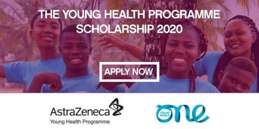 AstraZeneca Young Health Programme Scholarship 2020 to attend the One Young World Summit 2020 in Munich,Germany (Fully Funded)