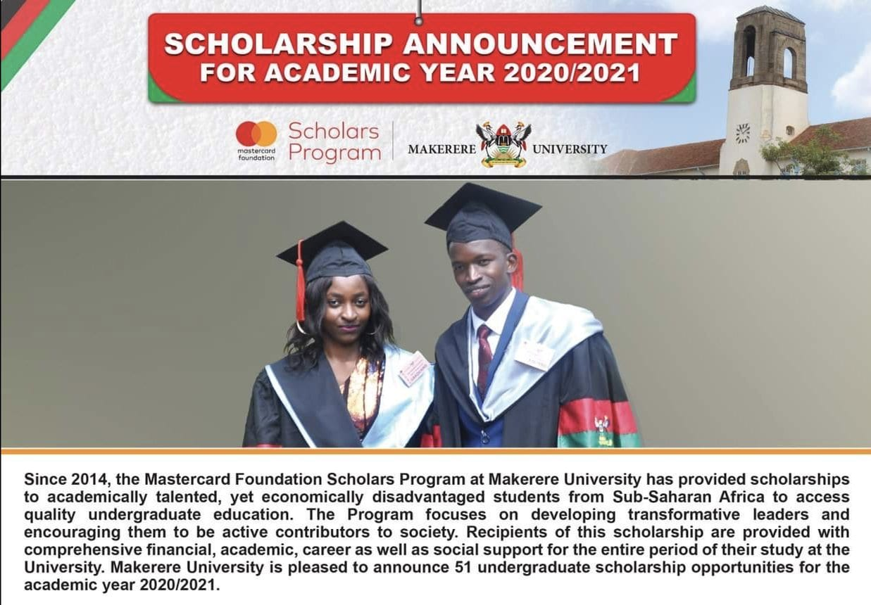 Makerere University MasterCard Foundation Scholars Program ...
