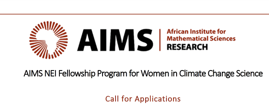 AIMS NEI Fellowship Program 2020 for Women in Climate Change Science