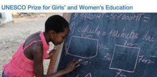 2020 UNESCO Prize for Girls' and Women's Education (USD $50,000 Prize)