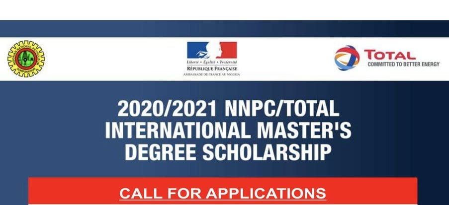 2020/2021 NNPC/Total International Master's Degree Scholarships for young Nigerians (Fully Funded to France)