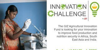 The GIZ Agricultural Innovation Fund (giz) Innovation Challenge 2020 for achieving SDG2 (EUR 50,000! Prize)