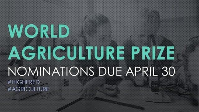 2020 GCHERA World Agriculture Prize Award ($100,000 Prize)