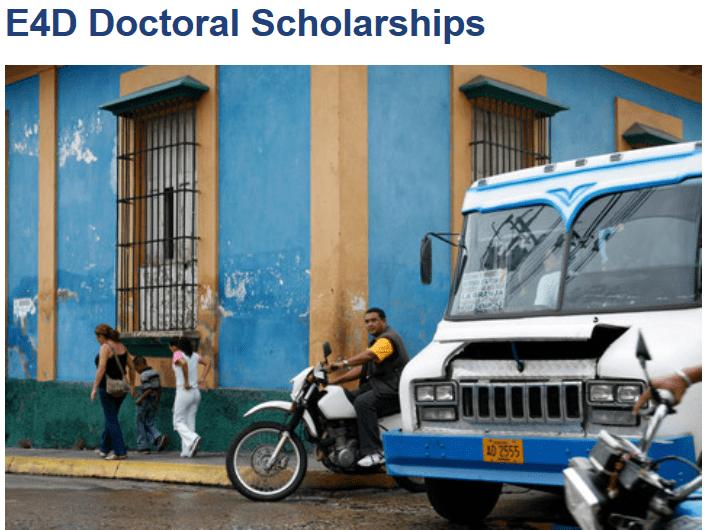 2020 Engineering for Development (E4D) Doctoral Scholarships, Zurich Switzerland – 175'000 CHF