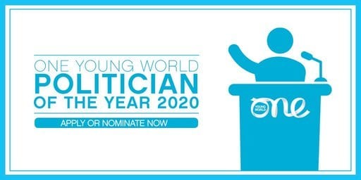 2020 One Young World Politician of the Year Award (Fully Funded to the One Young World Summit 2020 in Munich,Germany)