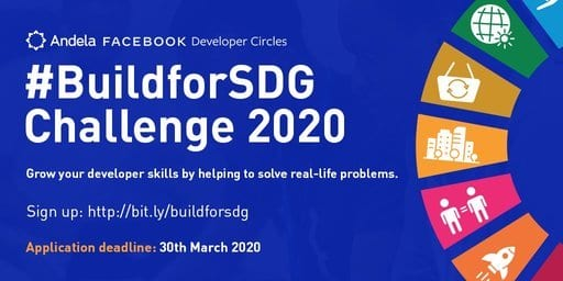 Facebook/Andela#BuildForSDG Challenge 2020 for young African Developers