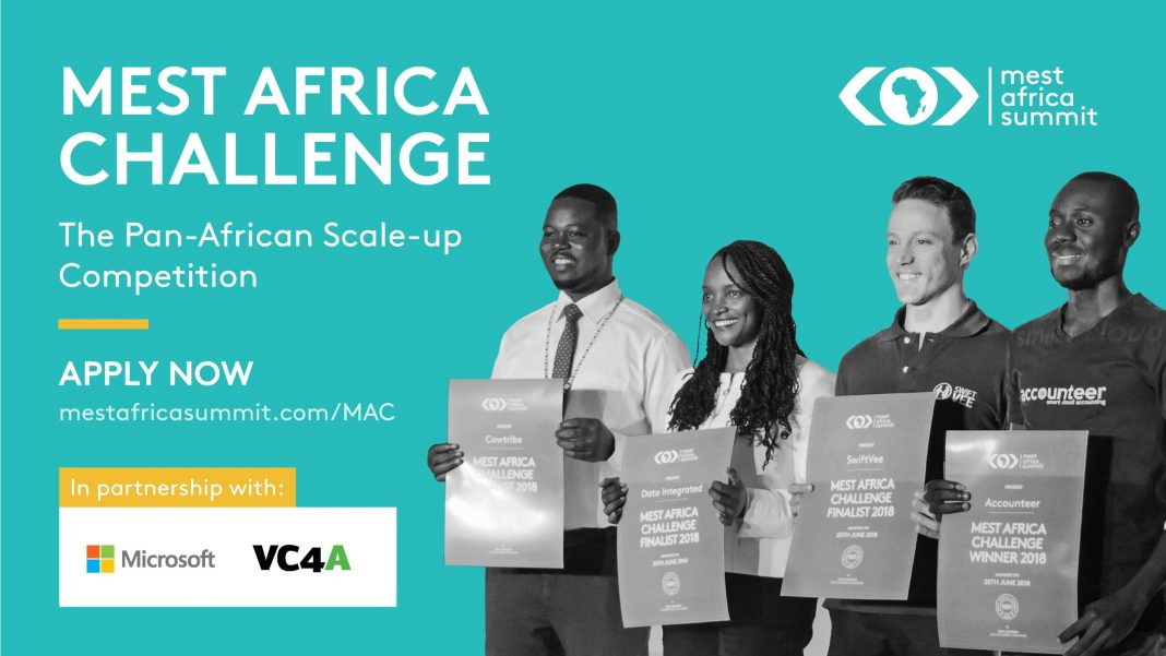 MEST Africa Challenge 2020 scale-up pitch competition for early-stage African startups ($50,000 in equity investment)