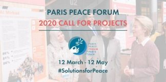 Call for Projects: 2020 Paris Peace Forum in Paris, France.