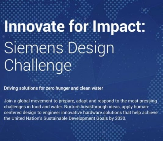 Innovate for Impact: Siemens Design Challenge 2020 Driving solutions for zero hunger and clean water ($10,000 USD Prize)