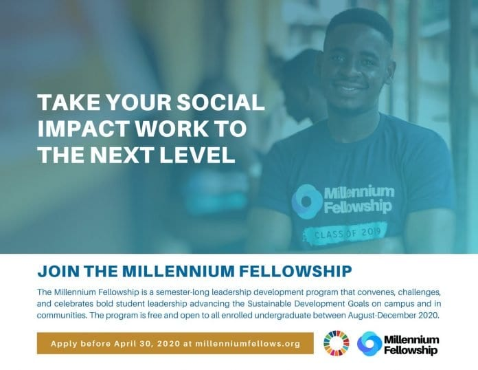 The United Nations Academic Impact/MCN Millennium Fellowship 2020 for emerging Leaders worldwide