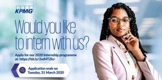 KPMG Ghana Internship Programme 2020 for young Ghanaians