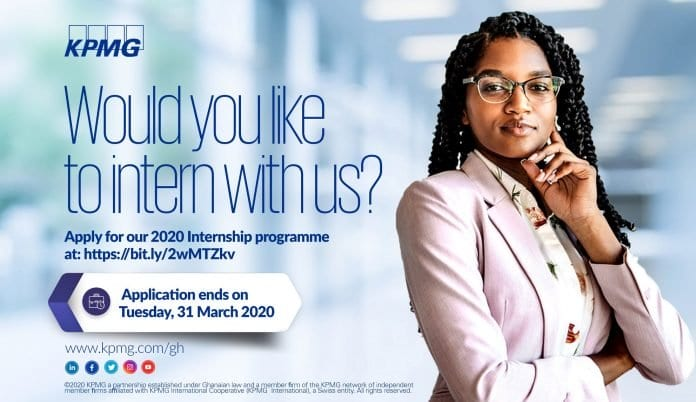 KPMG Ghana Internship Programme 2020 for young Ghanaians