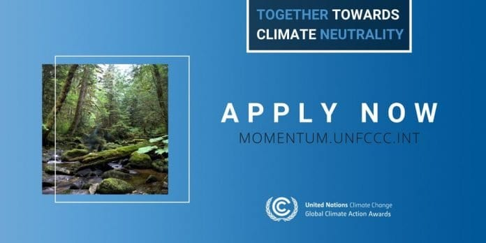 UNFCCC 2020 Momentum for Change Awards for Climate Solutions (Fully Funded to the 2020 UN Climate Change Conference in  Glasgow, Scotland)
