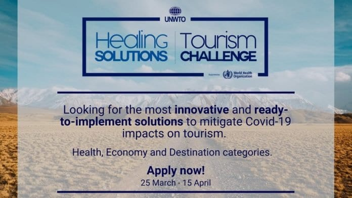 UNWTO Healing Solutions Tourism Challenge 2020 for solutions to mitigate Covid-19 impacts on tourism.