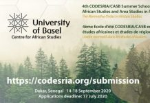 4th CODESRIA/CASB Summer School in African Studies and Area Studies in Africa (Fully Funded to Dakar, Senegal)