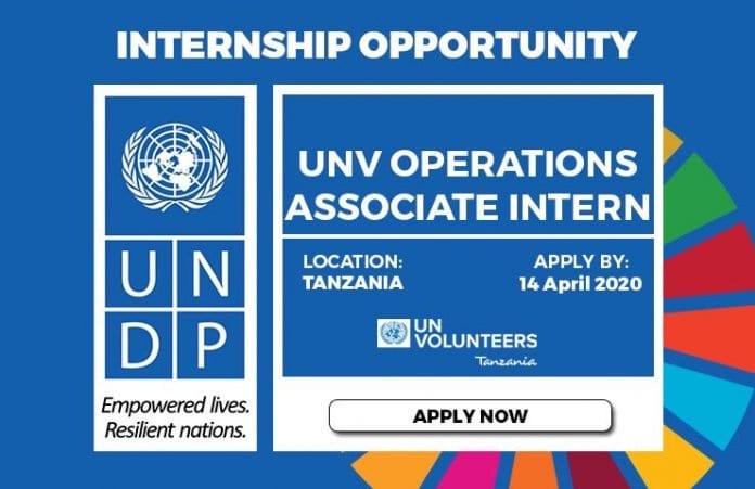 UNDP UNV Operations Associate Internship 2020