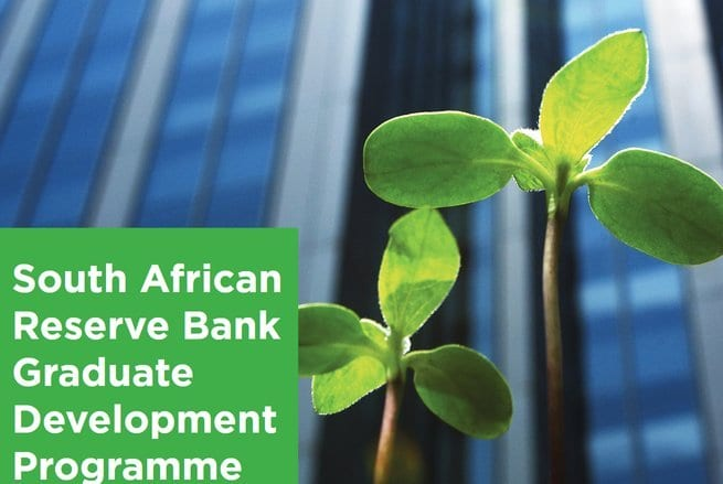 South African Reserve Bank (SARB) Graduate Development Programme 2021 for young South Africans