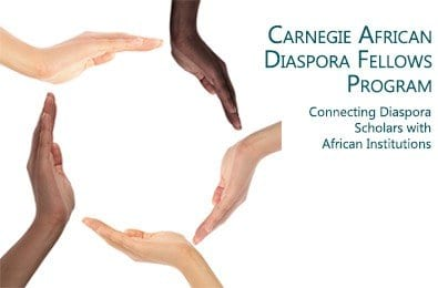 The Carnegie African Diaspora Fellowship Program (CADFP) 2020 competition for African-born Academics (Fully Funded)