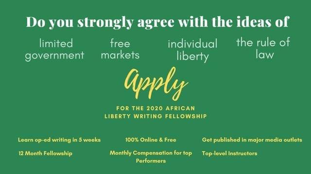 African Liberty Writing Fellowship Programme 2020