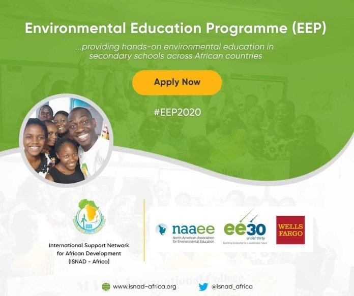 International Support Network for African Development (ISNAD) Environmental Education Programme (EEP) 2020