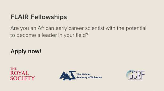 Future Leaders – African Independent Researchers (FLAIR) Fellowships 2020 for African early career researchers ( £150,000 per year grant)