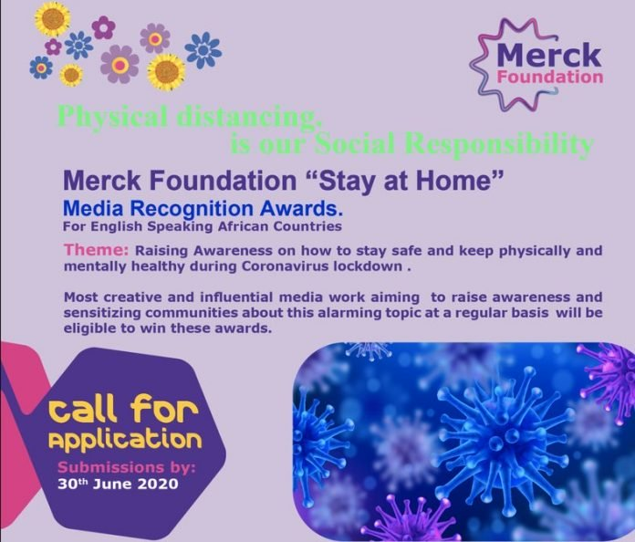 Merck Foundation Stay At Home Media Recognition Awards 2020 for Journalists