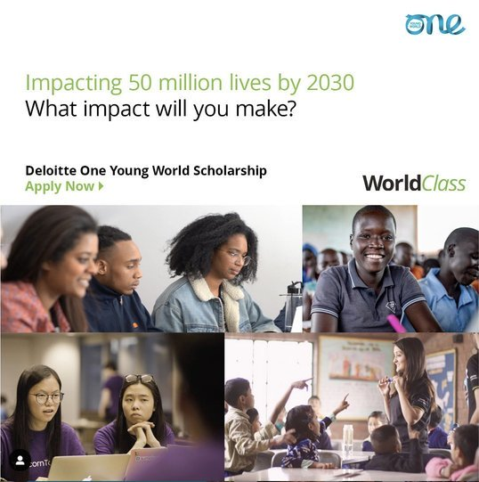 Deloitte/One Young World Scholarships 2020 (Fully Funded to attend the One Young World Summit in Munich,Germany)