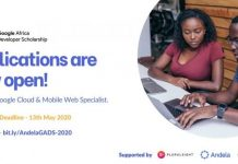 Google Africa Developer Scholarship (GADS) Program 2020 for aspiring & existing developers
