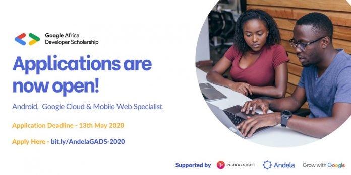 Google Africa Developer Scholarship (GADS) Program 2020 for aspiring & existing developers