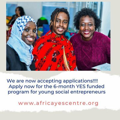 The Africa Young Entrepreneur Support (YES) Program 2020 for early stage young Social Entrepreneurs (Cohort 3)