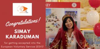 Simay Karaduman from Turkey Accepted into the European Voluntary Service (ESV)